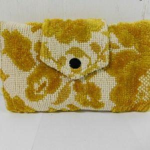 Vintage Carpet Bag Style Tri Fold Wallet